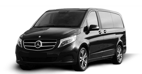 roomy mercedes v class van in black for transfers from zurich airport to st moritz